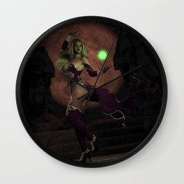 Blood Moon Sorceress Wall Clock