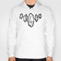 crystals Hoodies featuring crystals by HiddenStash Art