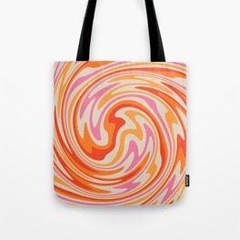 70s Retro Swirl Color Abstract Tote Bag