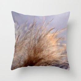 Feather close Throw Pillow
