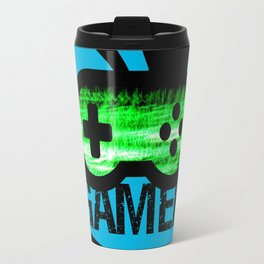 Blue Green Gamer Travel Mug