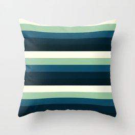 Nautical Stripes 2 Throw Pillow