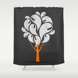 Tree Ghost Shower Curtain