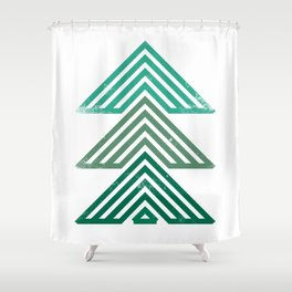 Mountain trees vintage Shower Curtain