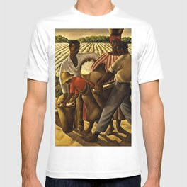 African American Masterpiece 'Oh Freedom! Hear my Voice' WPA landscape painting by Earle Richardson T-shirt