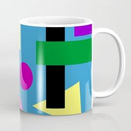 Geometry Shapes on Blue Coffee Mug