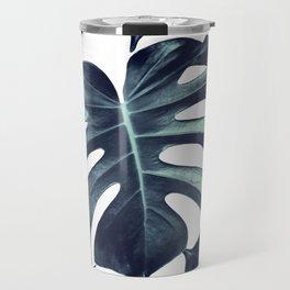 Tropical Monstera Leaves Dream #6 #tropical #decor #art #society6 Travel Mug