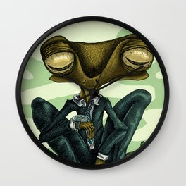 frog. Wall Clock