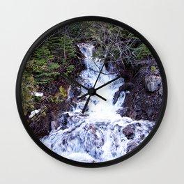 Mountain Cascade Wall Clock