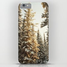 Snowy Pine Trees Glowing in Sunlight Slim Case iPhone 6s Plus