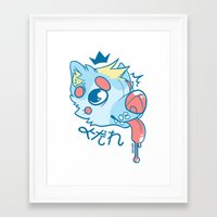 doge Framed Art Prints featuring Drool Doge by Servy