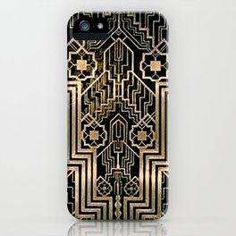Art Nouveau Metallic design iPhone Case