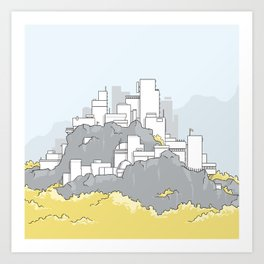 A city on a mountain Art Print