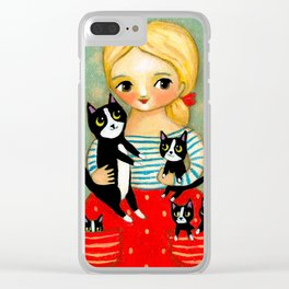 Pockets full of Kittens! Clear iPhone Case
