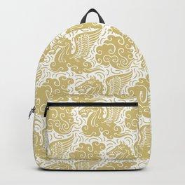 Pegasus Pattern Gold Backpack