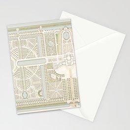 Dutch Antique Garden Plan in Pastels Stationery Cards