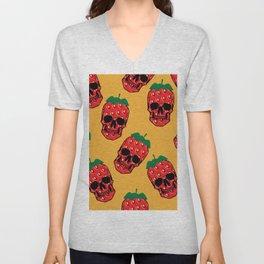 Skull Strawberries  Unisex V-Neck