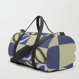 Checkered Circles Pattern Duffle Bag