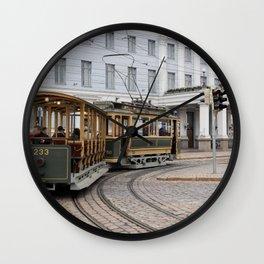 Helsinki Classic Tram Wall Clock