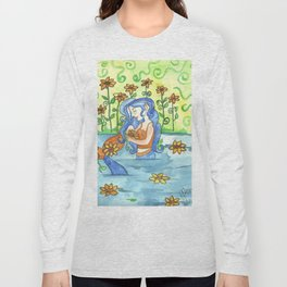 Sunflower Mermaid Long Sleeve T-shirt