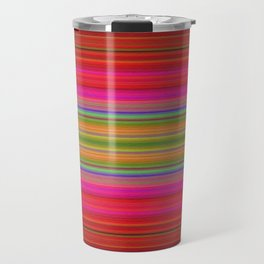 Colorful pink red green geometrical stripes Travel Mug