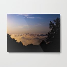 Forest on the Clouds Metal Print