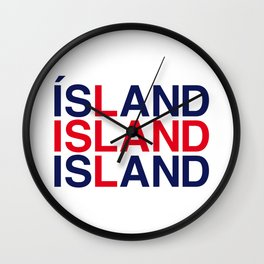 ICELAND Wall Clock