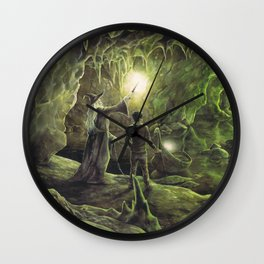 Harry and Dumbledore in the Horcrux Cave Wall Clock