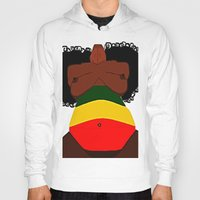 rasta Hoodies featuring Rasta Beauty by Courtney Ladybug Johnson