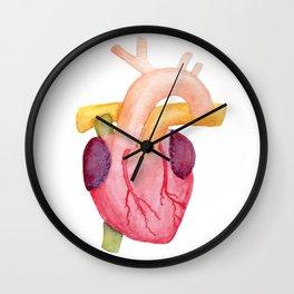 Watercolor Anatomical Heart Wall Clock