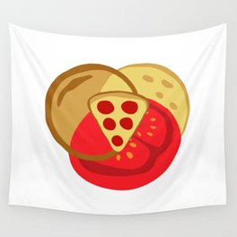 Pizza Venn Diagram Wall Tapestry