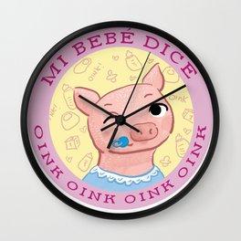 mi bebe cerdito Wall Clock