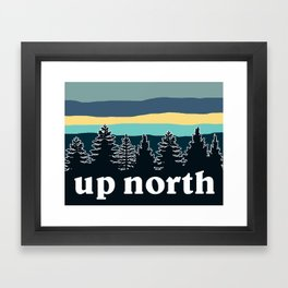 up north, teal & yellow Framed Art Print