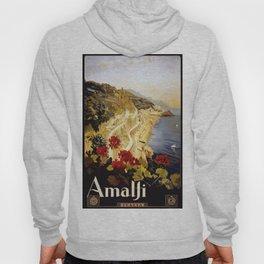 Vintage Italian 1930s Travel Poster- Amalfi Coast Hoody