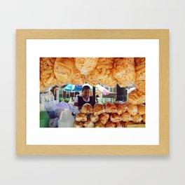 Vendedora de La Villita Framed Art Print