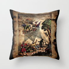 Medieval Minstrel Spirits Throw Pillow