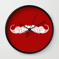 butcher billy Wall Clocks featuring The Butcher by Jason Rutherford
