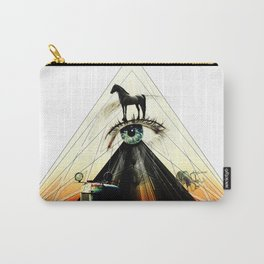 The Green Eye Surrealism Art Photo Collage Carry-All Pouch