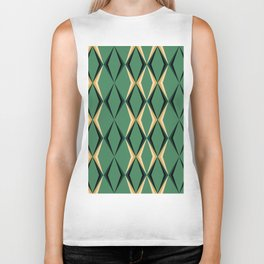 Art Deco Green & Gold Biker Tank