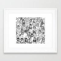 girls Framed Art Prints featuring Girls by leah reena goren