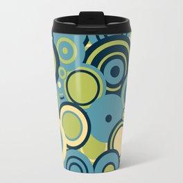 circles-blue-grn-cream Travel Mug
