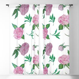 Peonies for loved ones Blackout Curtain