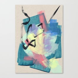 Abstract Modern Painting - Show Your Spirit no.6 - Navy Blue Canvas Print