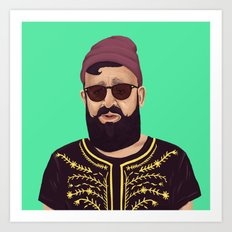The Israeli Hipster leaders - Ovadia Yosef Art Print