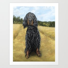 Gordon Setter Art Print