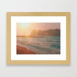 Warm Sunset on the Island of Crete, Greece Framed Art Print