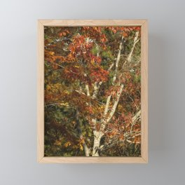 The Dying Leaves' Final Passion Framed Mini Art Print
