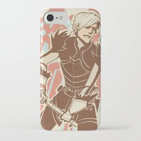 dragon age iPhone & iPod Cases featuring Dragon Age: Fenris by Sara Cuervo