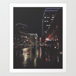 Boise Night Life Art Print