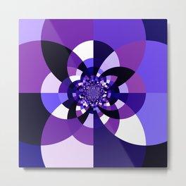 Purple Kaleidoscope Mandala Metal Print